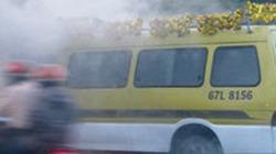 An Giang: Xe tang đột nhiên cháy rồi tự di chuyển