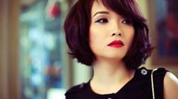 Váy đen, môi đỏ, Mai Thu Huyền đẹp kiêu sa