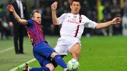 Diễn biến trận Milan - Barca qua ảnh