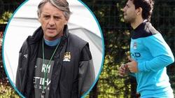 Aguero bị thương ngớ ngẩn, Mancini cáu tiết