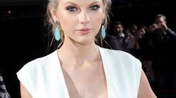 """""""Búp bê"""" Taylor Swift bỗng diện váy xẻ sâu hun hút"""