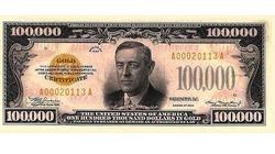 Vì đâu tờ 100.000 USD ra đời?