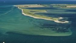 Một hòn đảo bất ngờ nổi lên giữa biển ở Đức