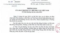 Hội Nhà văn bác bỏ thông tin trong thư ngỏ của nhà văn Y Ban