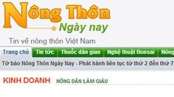 Nongthonngaynay.com là trang tin không phép