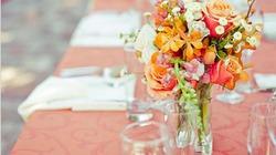 Không gian cưới đẹp lung linh với lọ thủy tinh