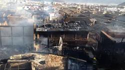 Thị trấn cổ của người Tây Tạng bị thiêu trụi hoàn toàn