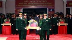 An táng 57 hài cốt liệt sĩ hy sinh tại Lào