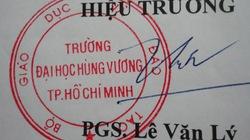 ĐH Hùng Vương TP.HCM có con dấu mới?