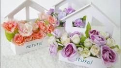 Bồn hoa handmade cực xinh trang trí nhà đón Tết