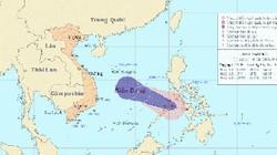 Bão giật cấp 9-10 áp sát biển Đông