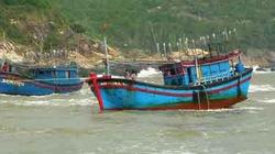 Nhiều tàu cá mắc kẹt