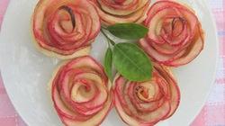 Bánh tart hoa hồng dễ làm cho Valentine lãng mạn