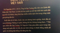 Lỗi trên bia điêu khắc về Tướng Giáp: Do phông chữ bị nhảy
