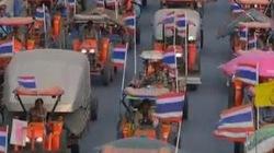 2.000 nông dân Thái lái máy cày đi đòi nợ chính phủ