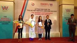 Diageo trao giải thưởng báo chí trao quyền cho phụ nữ