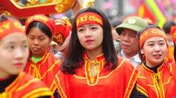 Những cô gái xinh đẹp trong đoàn rước kiệu lễ hội Đền Kỳ Cùng- Lạng Sơn