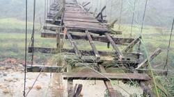 """""""Cây cầu treo chết"""" ở Quảng Ninh: Chỉ nhìn đã... """"lạnh người"""""""