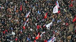 Người Nga đồng loạt biểu tình tại 6 thành phố