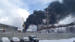 Chùm ảnh hỏa hoạn tại nhà máy tái chế tàu ngầm hạt nhân ở Nga