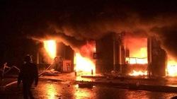 Chợ Phố Hiến, Hưng Yên cháy dữ dội trong đêm