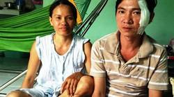 Vợ đoạt dao chém 2 tên cướp cứu chồng