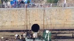 Chưa thu hết số dầu của nhà máy nhiệt điện Uông Bí tràn ra sông