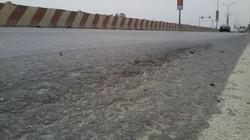 Lún nền đường QL1A: Vá xong trước Tết Nguyên đán 2015
