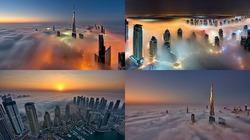 Ngắm bình minh Dubai lộng lẫy từ các tòa tháp chọc trời