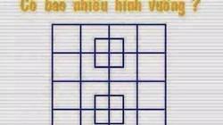 Bài toán đếm hình vuông khiến phụ huynh tranh cãi gay gắt