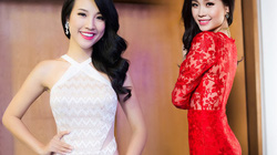 Á hậu Hoàng Oanh, Diễm Trang đọ dáng với váy bó sát