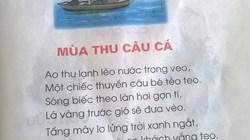 Bài thơ trong sách Tiếng Việt lớp 1 gây nhiều tranh cãi