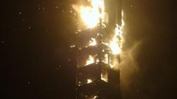 Dubai: Chung cư cao nhất thế giới bốc cháy