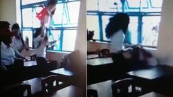 Clip: Nữ sinh lớp 7 bị đánh hội đồng dã man trong lớp