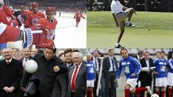 """Hình ảnh các lãnh đạo thế giới """"hết mình"""" vì thể thao"""