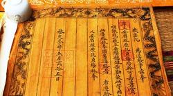 Nhiều tư liệu cổ bằng văn tự Hán - Nôm được phát hiện tại nhà thờ họ