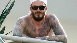 Beckham cởi trần, để râu xồm xoàm như… cướp biển