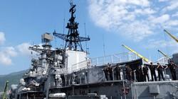 Cận cảnh tàu khu trục chống ngầm của Nga đến Đà Nẵng