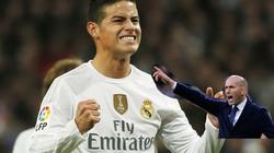 "Zidane dọa ""tống cổ"" James Rodriguez, M.U mừng thầm"