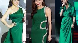 Tuyển tập váy áo xanh ngọc lục bảo của mỹ nhân Việt
