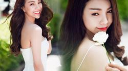 Trà Ngọc Hằng đẹp gợi cảm mà tinh khôi với sắc trắng