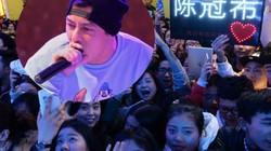 Hàng ngàn fan chen lấn xem Trần Quán Hy biểu diễn
