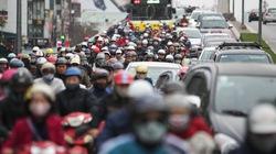 Nhiều tuyến đường Hà Nội kẹt cứng trong ngày đầu đi làm