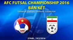 Xem trực tiếp Futsal Việt Nam vs Futsal Iran (1-13)