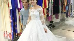 MC Hồng Phượng mặc áo cưới đính 10.000 viên pha lê