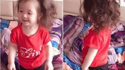 """Clip: Con gái Elly Trần """"đầu bù tóc rối"""" nhảy cực yêu"""
