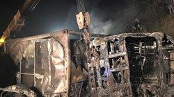 Vụ tai nạn thảm khốc ở Hòa Bình: Hai nạn nhân bị cháy không thể nhận dạng