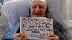 Cụ ông nằm viện xin 98 like cho sinh nhật 98 tuổi