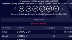Cập nhật kết quả Vietlott ngày 4.1: Giải Jackpot 20 tỷ đồng chưa tìm được chủ nhân