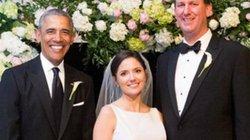 Ông Obama bảnh bao làm phù rể đám cưới